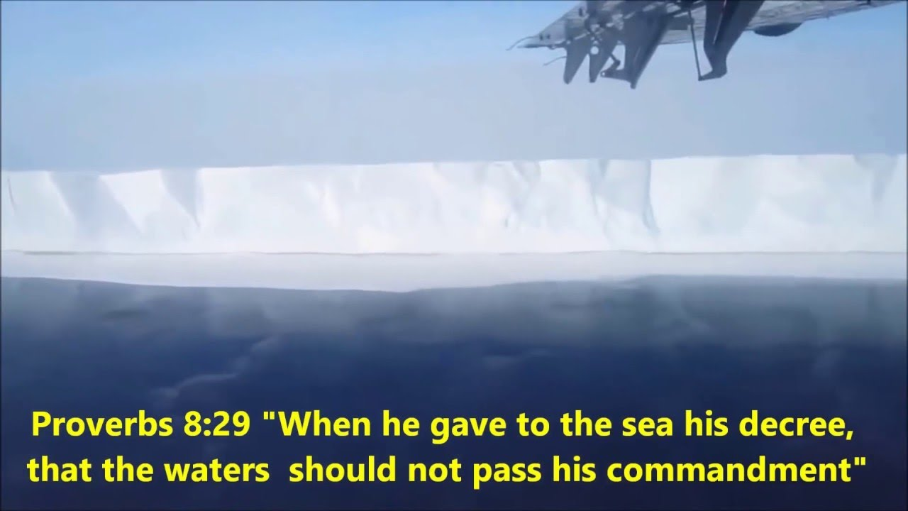 Cyclical Collapse Of Antarctic Ice Shelf -- FLAT EARTH
