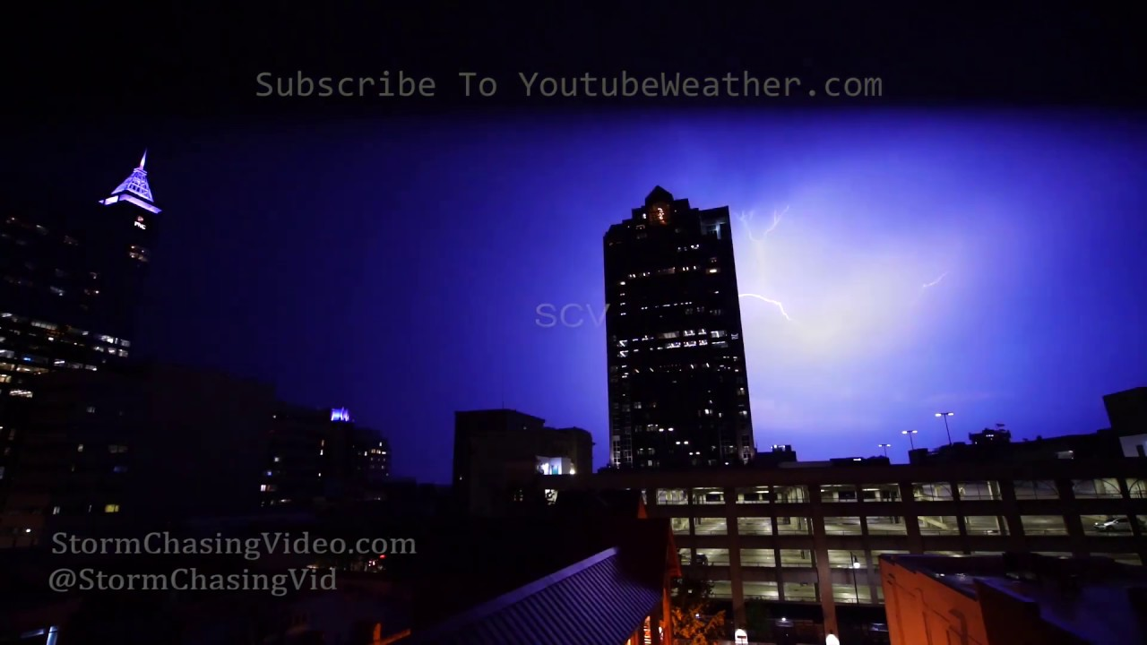 Slow Motion lightning over Raleigh, NC - 8/1/2019
