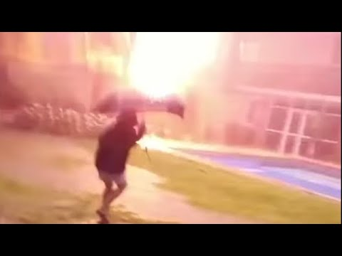 """!!!WOMAN ALMOST STRUCK BY LIGHTNING!!! """"THIS IS A MUST SEE VIDEO"""""""