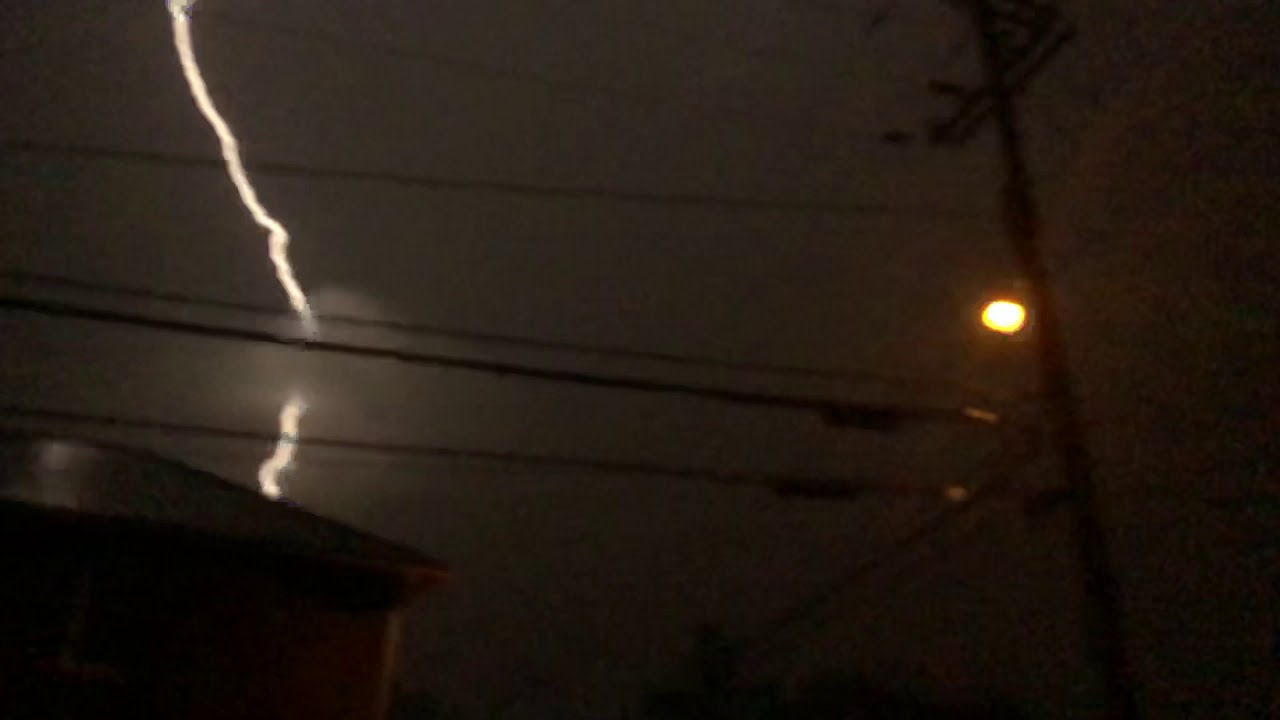 Huge lightning bolt near Logan, WV
