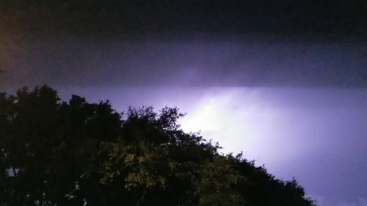 Lightning in the clouds
