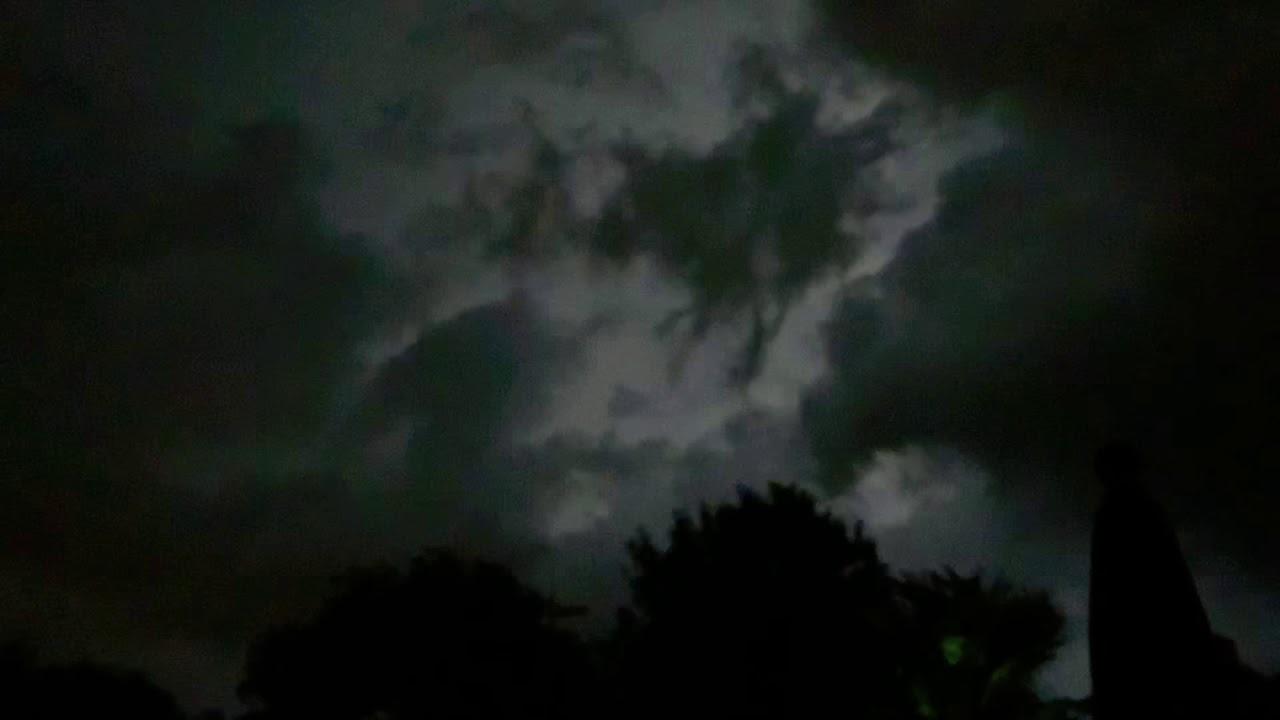 Crazy lightning as storm rolls in