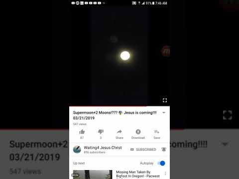Supermoon 2 MOONS!! Caught on Video 3/21-3/22