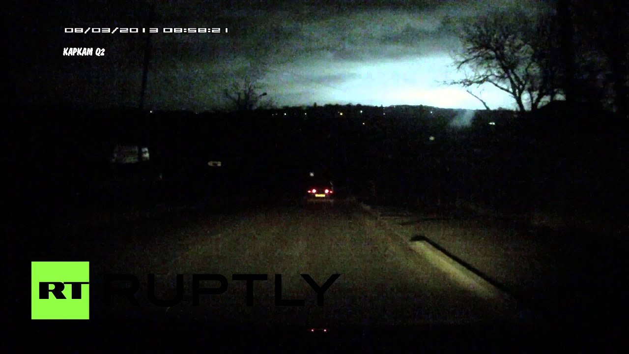 What The? Dashcam captures strange lights over night sky in Russia