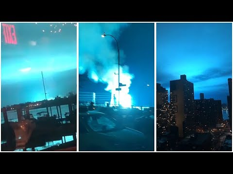 Blue Light Floods NYC Sky as Transformer Explodes in Queens | NBC New York