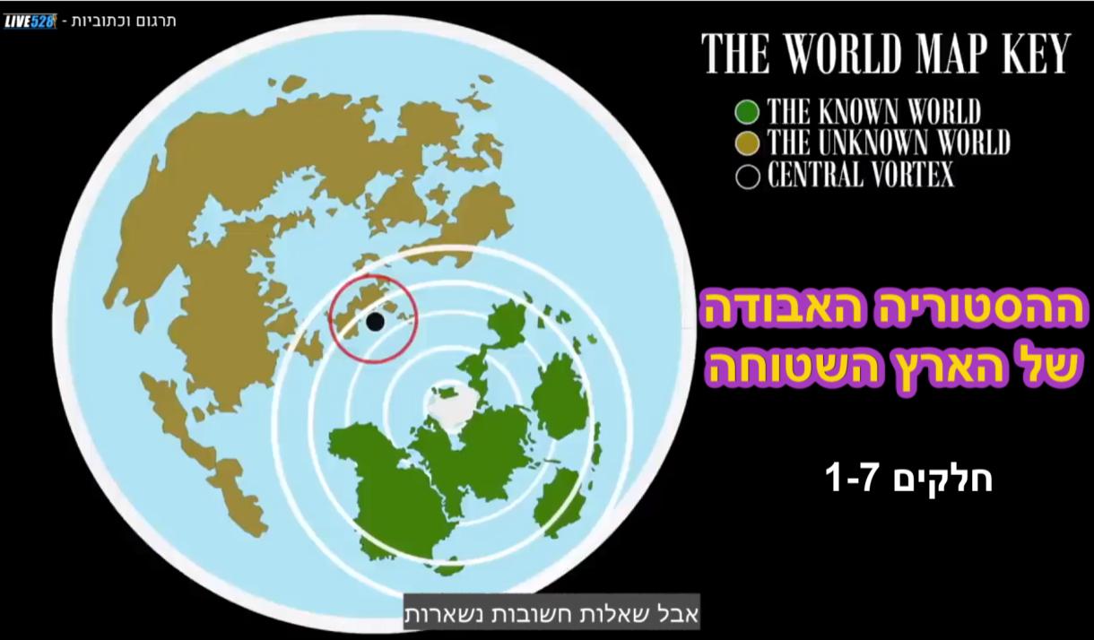 - תרגום עברית חדש !!! ההסטוריה האבודה של הארץ השטוח